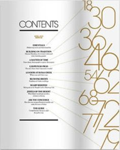 different contents page