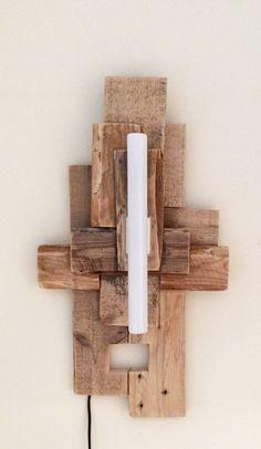 aplique en madera reciclada