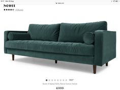Tips That Help You Get The Best Leather Sofa Deal. Leather sofas and leather couch sets are available in a diversity of colors and styles. A leather couch is the ideal way to improve a space's design and th Black Leather Sofas, Best Leather Sofa, Couch Set, Velvet Sofa, Cotton Velvet, Bleu Marine, Mid Century Design, Outdoor Sofa, Shabby Chic