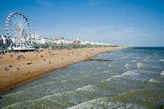 These beautiful beaches near London offer golden sands and hopefully sunshine - much better than a dip in the muddy Thames, am I right? London City Airport, London Airports, Best Beaches In England, Bournemouth Beach, Wow Air, Lido Beach, Flights To London, Botany Bay, Air New Zealand