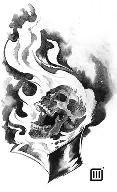 """My contribution to Inktober for Sideshow Collectibles. This is for Day - """"Scorched"""". Giving Ghost Rider a little love. Ink and white gouache on bristol paper. Ghost Rider Drawing, Ghost Rider Tattoo, Comic Style Art, Comic Art, Dibujos Dark, Marvel Art, Ms Marvel, Captain Marvel, Ghost Rider Pictures"""