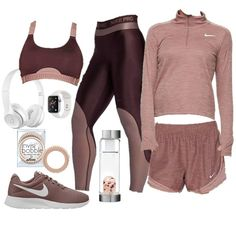 ShopStyle Look by Lillyten featuring Apple Watch Series 4 Gps, Silver Aluminum Case with White Sport Band and BeatsApple Beats Wireless On-Ear Headphones - Satin Silver Cute Sporty Outfits, Cute Workout Outfits, Workout Attire, Womens Workout Outfits, Sport Outfits, Trendy Outfits, Hiking Outfits, Fitness Outfits, Jugend Mode Outfits