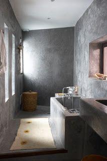baños cemento pulido