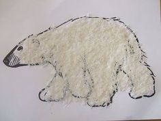 Textured Polar Bear with Coconut Flakes - lots of hiberation and bear activities