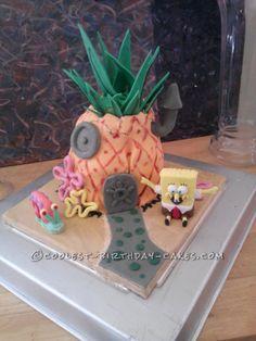 Sponge Bob's Pineapple House Birthday Cake... This website is the Pinterest of birthday cake ideas