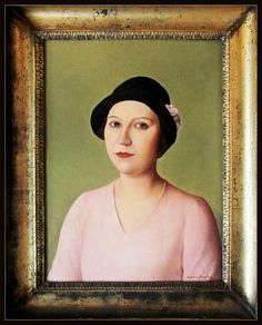 Antonio Donghi - Portrait of a Woman in a Hat, 1931