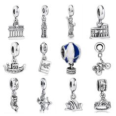 New! 925 Sterling Silver Charm Travel World Pendant European Charms Silver Beads For Snake Chain Bracelet DIY Fashion Jewelry-in Charms from Jewelry on Aliexpress.com | Alibaba Group
