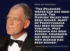 A very serious Dave Letterman ~ Where will we all go when they've poisoned all the waters? Make plans now, because they ARE doing it.