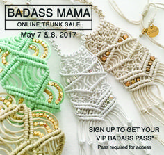Last Day! CORDA Macrame Private Online Trunk Show. Get your VIP PASS NOW and get special pricing!