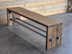 terrific Walnut Bench from Vintage Industrial