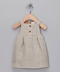 Another great find on Beige Linen Dress - Infant by Yo Baby… Little Girl Fashion, Kids Fashion, Fashion Vintage, Gothic Fashion, Fashion News, Little Girl Dresses, Girls Dresses, My Baby Girl, Baby Girls