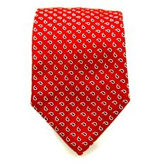 Light red paisley pattern tie