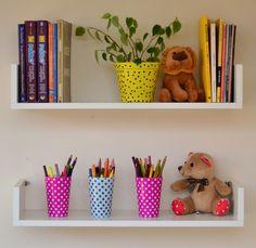 Home Room Design, Home Interior Design, Interior Decorating, Diy Wall Decor, Bedroom Decor, Home Decor, Bookshelves In Bedroom, Diy Dollhouse, Kitchen Interior