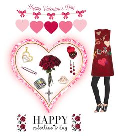 """Happy Valentine Day"" by goldia ❤ liked on Polyvore featuring J Brand, Dolce&Gabbana, Godiva, women's clothing, women, female, woman, misses, juniors and valentinesday"