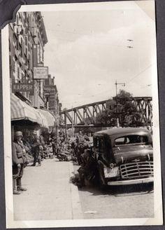 Duitse eenheden Prins Hendrikkade, Noordereiland, Rotterdam 1940. Foto: boek Rotterdam Frontstad