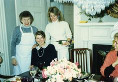 A photo from my cooking seminar days - A luncheon at Turkey Hill with Mom and sister Kathy