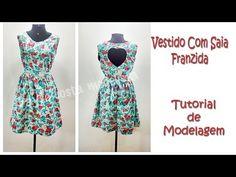 Passo a passo da confecção do vestido longo com manga raglan. Confira a modelagem: http://www.modaemoldes.com/blog/vestido-longo-com-manga-raglan-tutorial-de...