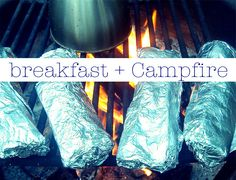 breakfast burritos wrapped in tin foil. Just throw them on the grill to heat! Ot… breakfast burritos wrapped in tin foil. Just throw them on the grill to heat! Other great camping ideas too! Vw Camping, Camping Survival, Camping Meals, Family Camping, Camping Hacks, Camping Recipes, Camping Stuff, Camping Cooking, Camping Dishes