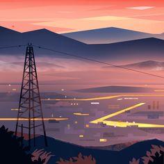 City Illustration, Digital Illustration, Animation Background, Environmental Design, City Lights, Traditional Art, Concept Art, Landscape, Instagram Posts