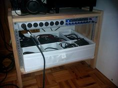 Awesome idea for rack mounting gear. Especially when I want to convince my wife to keep it in the living room :-)