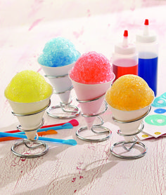 Recipe For Easy Fruity Shaved Ice  - This summer, enjoy a throwback to your own childhood with the simple fruity fun of shaved ice. From blue raspberry to orange, the flavor combinations are endless. The entire family will love creating and cooling down with this fabulous summer treat.