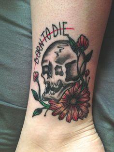 Born To Die done by Kurtis Johansen at Bleeding Heart Tattoo, Lee's Summit MO.