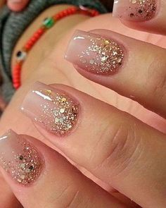 Charm: Over 50 Designs for Perfect Pink Nails See the most charming nail designs in pink that are appropriate for almost any occasion.See the most charming nail designs in pink that are appropriate for almost any occasion. Fancy Nails, Cute Nails, Pretty Nails, Diy Prom Nails, Homecoming Nails, Gold Glitter Nails, Christmas Nails Glitter, Glitter Pedicure, Glitter Wedding Nails