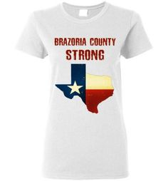 9a4aef5a6b96 Brazoria County STRONG Ladies Red letter