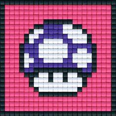 Mario Paddenstoel Paars | Pixel Party