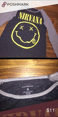 Nirvana long sleeve top. Nirvana band top. 3/4 sleeve. Tops Tees - Long Sleeve