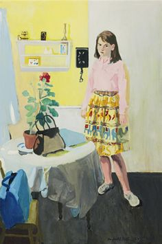 Fairfield Porter, Girl and Geranium, 1963