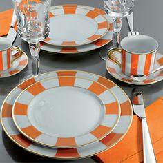 Bernardaud - Galerie Royale Orange - #bernardaud #porcelaine #porcelain #limoges #tablesetting