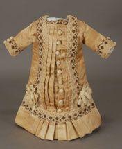 antique satin doll dress