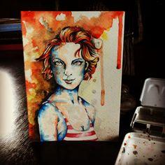 Watercolor 8x8 cm