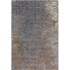 8 x 11 Large Contemporary Grey, Brown & Blue Rug - Rupec