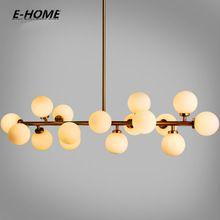 Moden art glass chandelier light 16head gold/black magic bean led Pendant lamp living dining room shop led striplight(China)