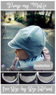 Baby Clothing Sewing the Freebook kids hat / cap with extra piping on the screen, free tutorial Baby Clothing Source : Freebook Kindermütze / Schirmmütze nähen mit extra Paspel am Schirm , gratis . Sewing Projects For Kids, Sewing For Kids, Baby Sewing, Easy Baby Blanket, Peaked Cap, Visor Cap, Fabric Purses, Clothing Tags, Kids Clothing