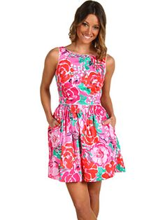 Lilly Pulitzer dress. I want to work there when i am older and make all their patterns!