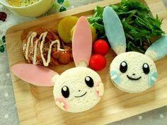 Just to Make You Smile: 50 Masterpieces of Sushi and Bento Box Food Art . Kawaii Bento, Cute Bento, Pokemon Party, Pokemon Birthday, Pokemon Recipe, Bento Recipes, Bento Ideas, How To Make Sandwich, Edible Arrangements