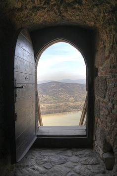 The Danube and some parts of Nagymaros, view from inside the tower of the Castle of Visegrád (Fellegvár) in Visegrád, Pest County_ Hungary Ottoman Turks, Hungary Travel, 15th Century, To Go, Castle, World, Places, Countries, Traveling