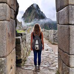 Stepping into Machu Picchu!
