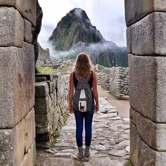 Stepping into Machu Picchu!
