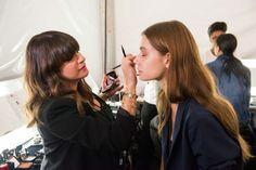 Avon Celebrity Makeup Artist Jamie Makeup Greenberg backstage at the Dennis Basso Spring 2015 runway show at New York Fashion Week. #NYFW #avon #MUP