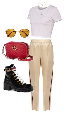 """Untitled #5865"" by lilaclynn ❤ liked on Polyvore featuring Gucci, Retrò and gucci"