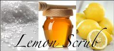 Lemon Scrub recipe to even out skin tone and strengthen skin elasticity www. Baking Soda Face Scrub, Salt Face Scrub, Lemon Face Scrubs, Facial Scrubs, Diy Body Scrub, Diy Scrub, Sugar Scrub Homemade, Spa, Even Out Skin Tone