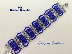 Bicone Seed Beads Bracelet - diy and joy Seed Bead Bracelets, Seed Bead Jewelry, Seed Beads, Beaded Jewelry Patterns, Bracelet Patterns, Macrame Bracelet Tutorial, Netted Bracelet, Diy Bracelet, Beaded Choker