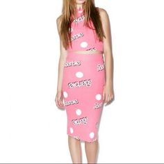 Wildfox Barbie All Over Skipper Skirt Pink S NWT Wildfox Couture Pink 'Barbie All Over' Skipper Skirt, size Small. New never worn. Any questions please ask prior to purchasing    ✨No Trades✨ Wildfox Skirts