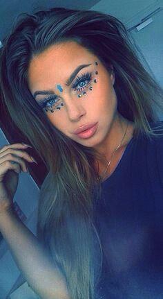 Rave rhinestone makeup