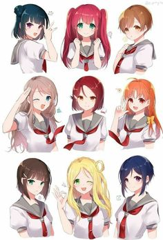 Drawing Hairstyles 731905376921781628 - Moe vãi Source by Anime School Girl, Anime Girl Cute, Kawaii Anime Girl, Anime Art Girl, Anime Girls, Anime Girl Hairstyles, Drawing Hairstyles, Pelo Anime, Manga Drawing Tutorials
