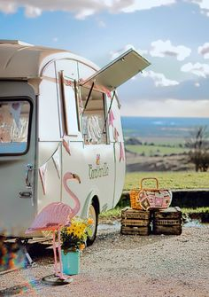 Loving Olive! Can't wait for summer to start to get scooping.   Ice cream van with a twist, the look of a Neapolitan scoop on the outside & grandmas living room on the inside